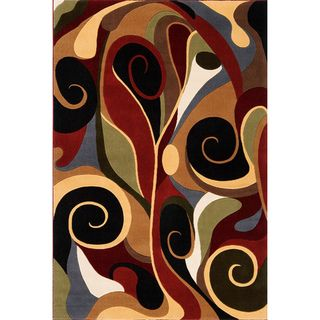 Graffiti Multi Wool Area Rug (79 x 99)