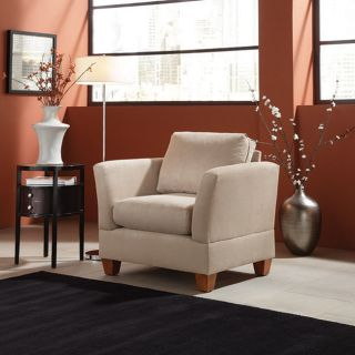Simplicity Sofas 36 inch Microfiber Small Space Arm Chair