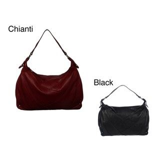 Perlina Sandra Leather Hobo Bag