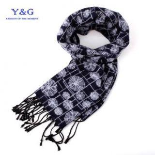 Black spider web Tuxedo Scarf for men women Y&G 100% Silk