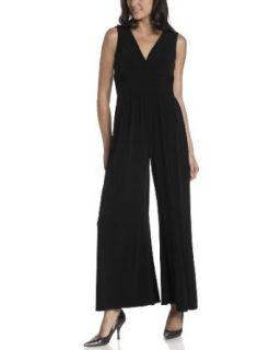 Jessica Simpson Womens Jersey Jumpsuit Dress,Black,Large