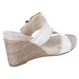 Skechers Womens Modiste Triump White Wedge Sandals