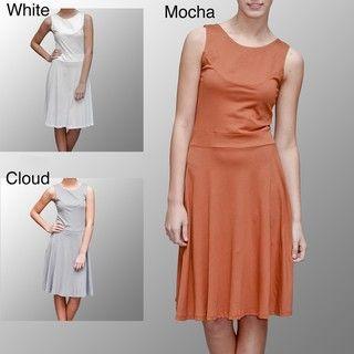 AtoZ Womens Turkish Cotton Mid Calf Dress