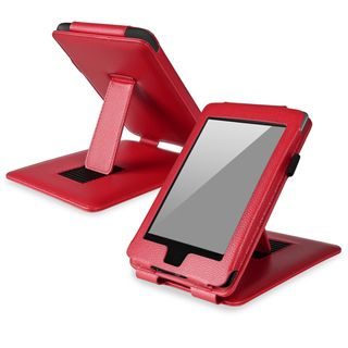 BasAcc Red Leather Case with Stand for  Kindle Paperwhite