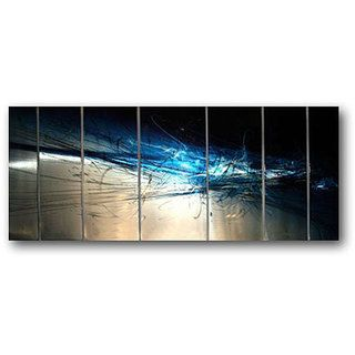 Ash Carl Forever 7 panel Abstract Metal Wall Art