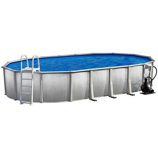 Discovery Above Ground 18 foot x 33 foot Oval Swimming Pool Package