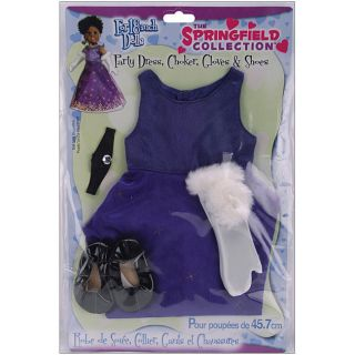 Springfield Collection Purple 18 inch Doll Party Dress Set