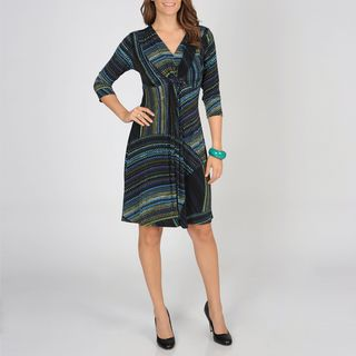 Lennie for Nina Leonard Womens Micro Print Jersey Dress