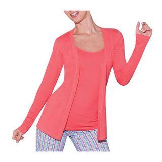 Illusion Womens Cotton Lightweight Cardigan