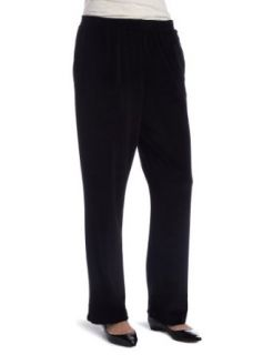 Alfred Dunner Womens Proportioned Medium Pant, Black, 10