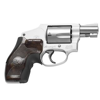 Crimson Trace Chestnut Lasergrip Smith and Wesson J frame Round Butt