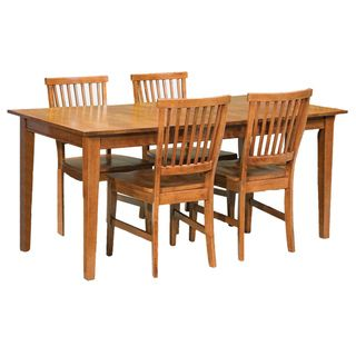Home Styles Arts & Crafts Cottage Oak 5 piece Dining Furniture Set