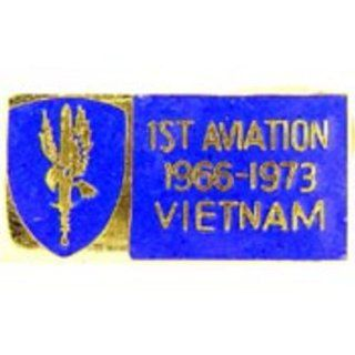 U.S. Army 1st Aviation Brigade Vietnam Pin 1 1/8 Sports
