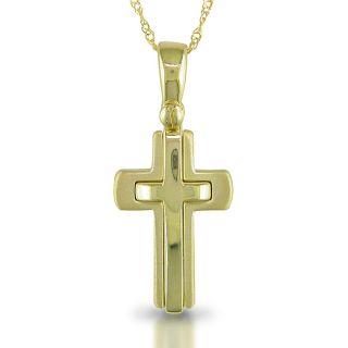 Miadora 14k Yellow Gold Cross 17 inch Necklace
