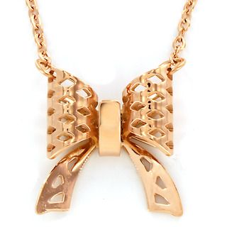 Rose Gold plated Stainless Steel Bow Necklace