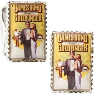 Sterling Silver James Bond Goldfinger Cufflinks Clothing
