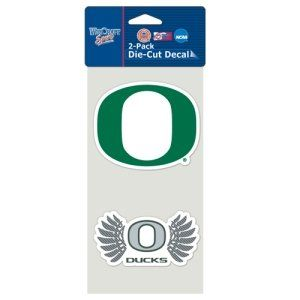 Oregon Ducks Set of 2 Die Cut Decals