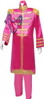 Mens XXL Pink Beatles Sgt. Peppers Costume Clothing