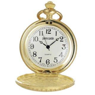 Pierre Cardin Goldtone Case White Dial Pocket Watch
