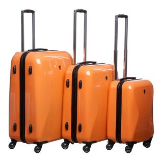 Heys USA Light Orange Crown LX 3 piece Hardside Spinner Luggage Set