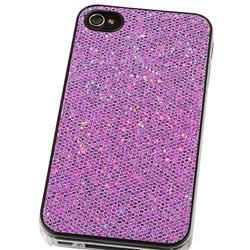 Snap on Purple Bling Case for Apple iPhone 4