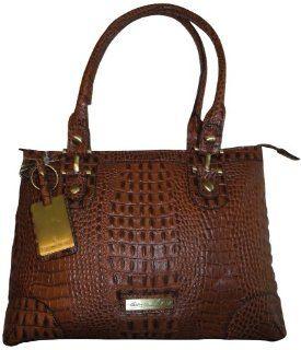 Etienne Aigner Leather Purse Handbag Tiffany Collection Saddle Shoes