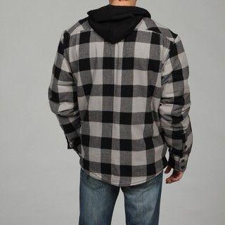 Burnside Mens Black Checkered Jacket