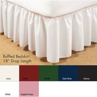 Poplin Ruffled 18 inch Bed Skirt
