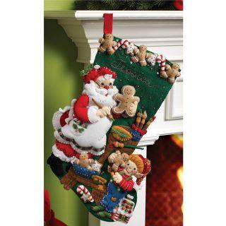 Bucilla Christmas Cookies Stocking Felt Applique Kit
