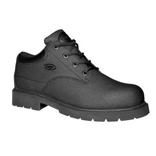 Lugz Mens Drifter Lo Black Leather Work Boots