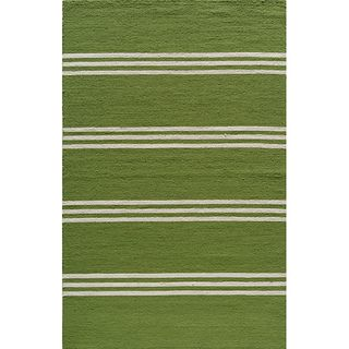 Indoor/ Outdoor South Beach Lime Stripes Rug (5 x 8)