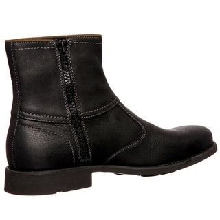 Calvin Klein Jeans Mens Roger Black Leather Boots