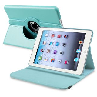 BasAcc Light Blue Leather Swivel Case for Apple iPad Mini