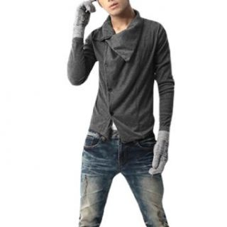 Allegra K Stylish Mens Gothic Style Casual Dress Shirt