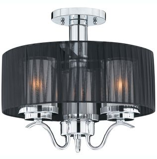 Triarch International Cylindique 2 light Chrome Semi Flush Mount