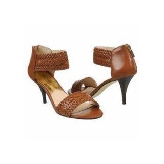 MICHAEL KORS Womens Juniper Sandal (Dark Walnut Leather 8.0 M) Shoes