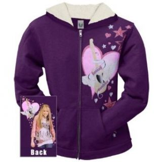 Hannah Montana   Guitar Heart Girls Youth Zip Hoodie   X