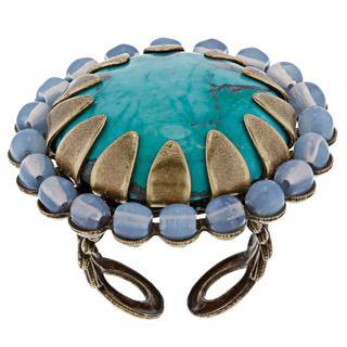 Sweet Romance Turquoise Agate Lotus Ring