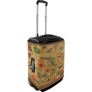 CoverLugg Small Luggage Cover   Travel Stamps (Travel