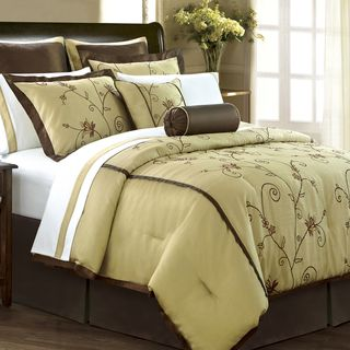 Angelica Gold 12 piece Room in a Bag with Sheet Set