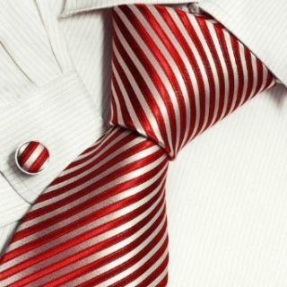 Gold Stripes Designer Mens Ties Red Birthday Gifts Husband