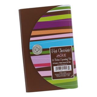 Jackie Hot Chocolate 13 pocket Expanding Coupon Organizer File