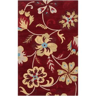Hand tufted Powers Red Wool Rug (2 x 3)