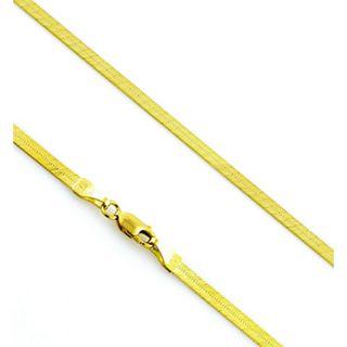 14K 3.5mm Flexible Herringbone Chain Necklace   18