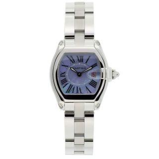Cartier Womens Roadster Stainless Steel Purple Watch