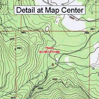 USGS Topographic Quadrangle Map   Plains, Montana (Folded