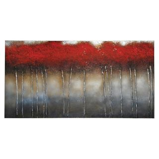 Patrick St. Germain Crimson Forest Hand Painted Canvas