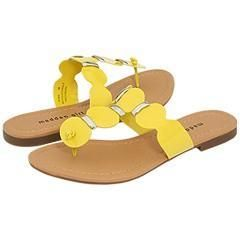 Madden Girl Fridaa Yellow Patent Sandals