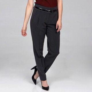 Harve Benard Womens Wide Belt Loop Side Buckle Pants