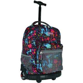 World Tiger Pink 18 inch Rolling Backpack